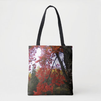 Red Autumn Maple Leaves Tote Bag