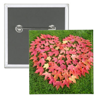 Red Autumn Tree Leaves magnets Green Lawn Pin