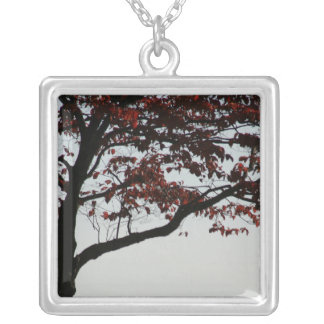 Red Autumn Tree Nature Necklace