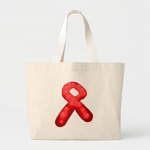 Red Awareness Ribbon Candle Tote Bag