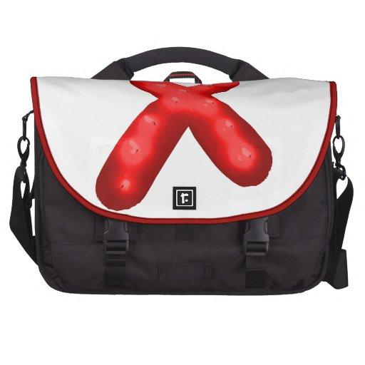 Red Awareness Ribbon Candle Laptop Bags