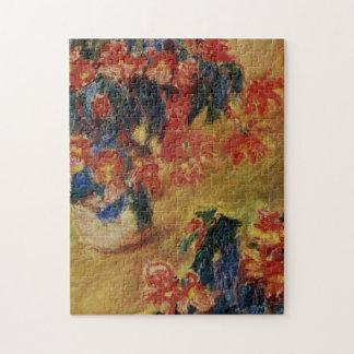 Red Azaleas in a Pot Monet Fine Art Jigsaw Puzzle