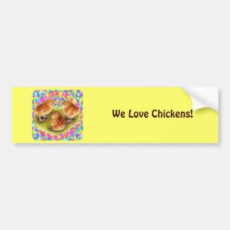 Red  Baby Chicks Bumper Sticker