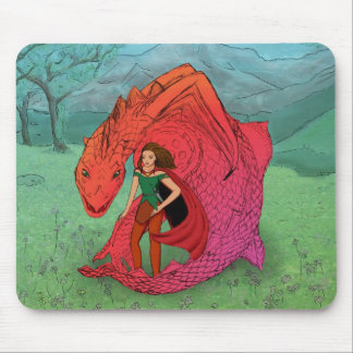 Red Baby Dragon Mousepads