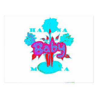Red Baby kids plant Hakuna Matata Postcard