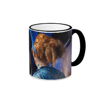 red back & blue mug