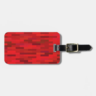 Red background luggage tag