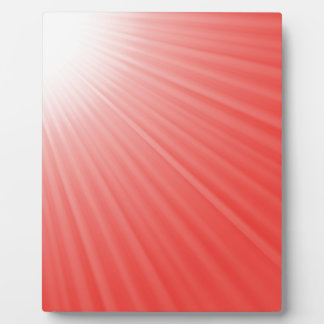 red background plaque