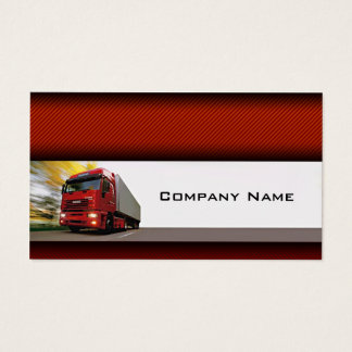 Red Background Red Truck On The Road Card