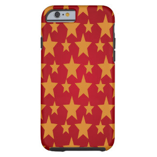 Red Background & Yellow Stars Tough iPhone 6 Case