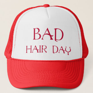 Red Bad Hair Day Hat