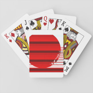 red ball playing cards