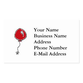Red Balloon Cartoon Design Business Card Templates