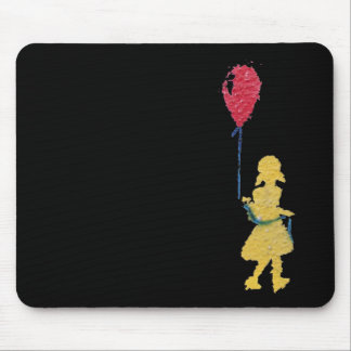 red balloon. mouse pad
