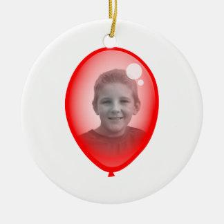 Red Balloon Template Ceramic Ornament