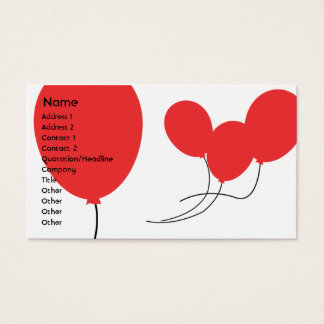 Red Balloons - Business Business Card