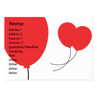Red Balloons - Chubby Large Business Cards (Pack Of 100)