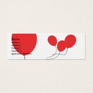 Red Balloons - Skinny Mini Business Card