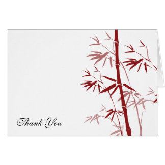 Red Bamboo Thank You Cards