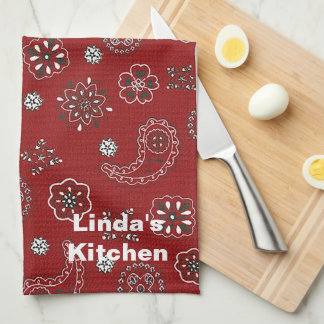 Red Bandana Kitchen Towel