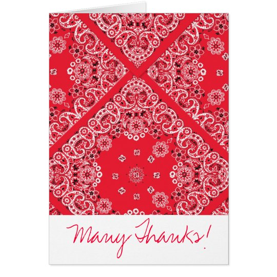 Red Bandanna Thank You Card
