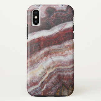 Red Banded Agate Pattern iPhone X Case