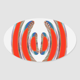 RED BANGLES : Abstract Decorative Art on GIFTS Sticker