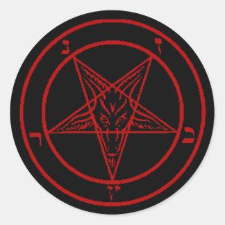 Red Baphomet Stickers