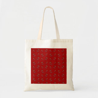 red barbeque pattern canvas bags
