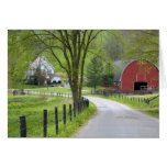 Red barn and farm house near Berlin, Ohio. Greeting Card