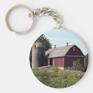 Red Barn and Silo Key Ring