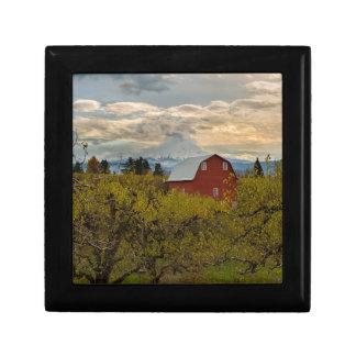 Red Barn at Pear Orchard Oregon Gift Box