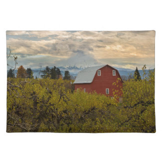 Red Barn at Pear Orchard Oregon Placemat