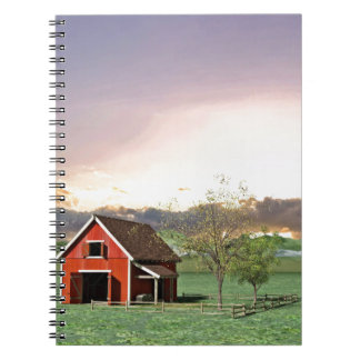 Red Barn at Sunset Notebooks