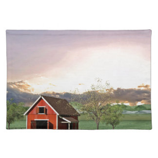Red Barn at Sunset Placemat