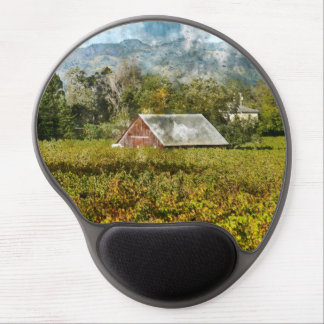 Red Barn in a Vineyard Gel Mouse Pad