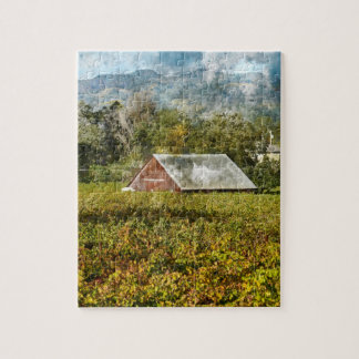 Red Barn in a Vineyard Jigsaw Puzzle