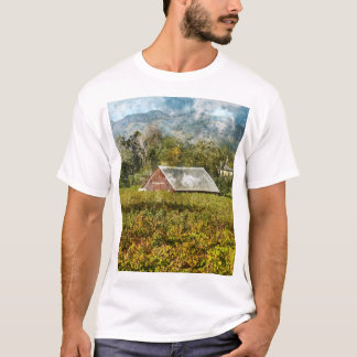 Red Barn in a Vineyard T-Shirt