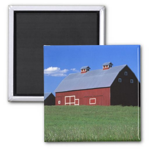 Red barn in Latah County, Idaho state PR MR) Magnet