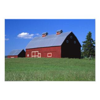 Red barn in Latah County Idaho state PR MR Photo Art