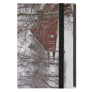 Red Barn In The Snow Case For iPad Mini