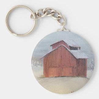 Red Barn Key Ring