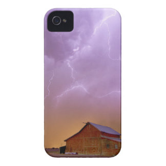 Red Barn on a Farm and What a Beautiful Sight iPhone 4 Case-Mate Cases
