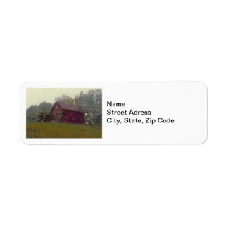 Red Barn on the Hill Return Address Label