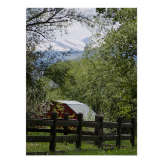 Red Barn Photo Poster