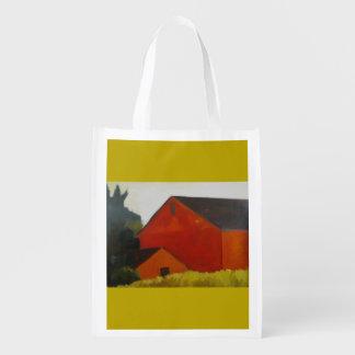 Red barn reusable bag