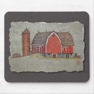 Red Barn Silo Mousepads