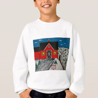 Red Barn Tree Farm Sweatshirt