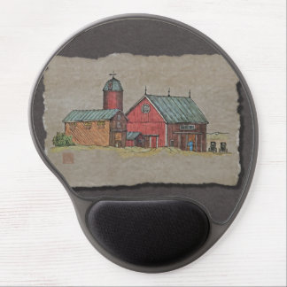 Red Barn & Two Buggies Gel Mouse Mat