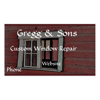 Red Barn Window Business Cards
